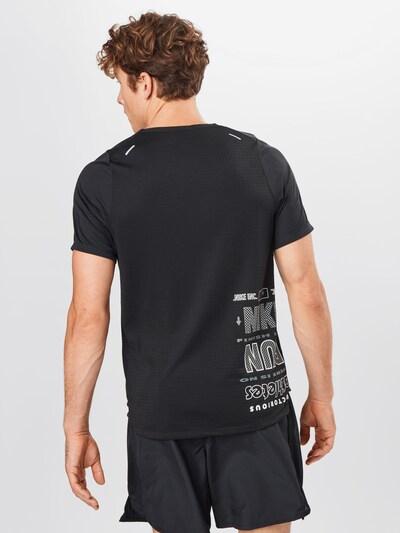 NIKE Sportshirt 'Rise 365 Wild Run' in dunkelgrau / schwarz / weiß: Frontalansicht