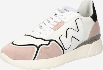 Sneaker low 'RUNNY' de la WOMSH pe alb