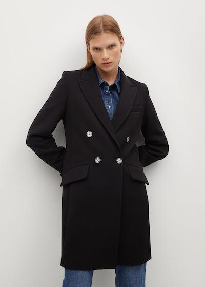 MANGO Mantel 'Sugus' in schwarz, Modelansicht