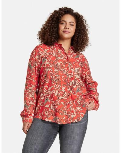 SAMOON Bluse in beige / rot, Modelansicht