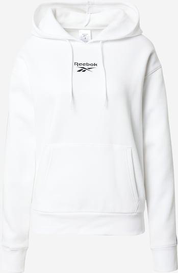 REEBOK Sportiska tipa džemperis melns / balts, Preces skats