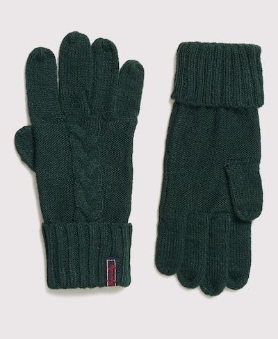 Superdry Vingerhandschoenen in de kleur Crème / Groen, Productweergave