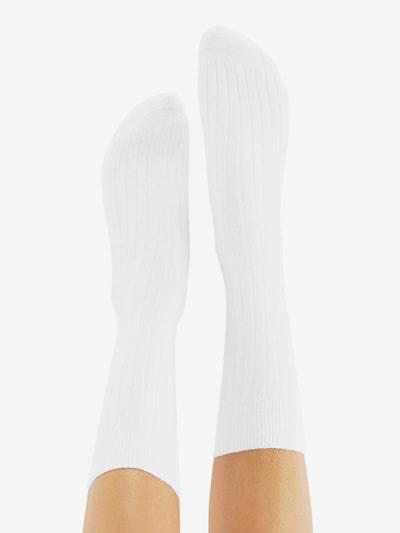 CHEERIO* Socken 'TOUGH GUY' in weiß: Rückansicht