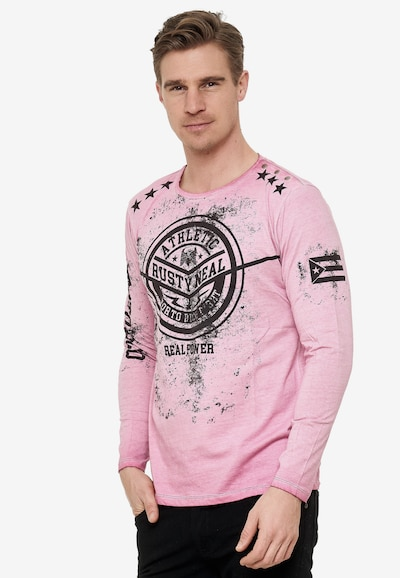 Rusty Neal Cooles Longsleeve mit großem Front Print in pink: Frontalansicht