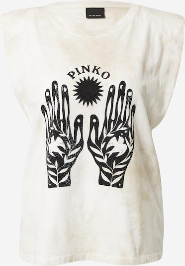 PINKO T-shirt en noir / blanc, Vue avec produit