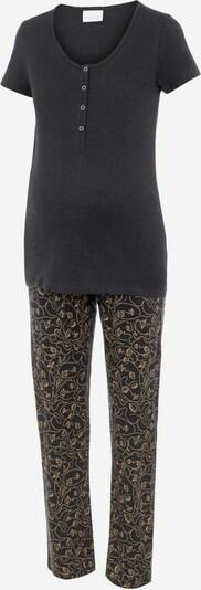 MAMALICIOUS Pyjama 'LIA' in de kleur Beige / Donkergrijs, Productweergave