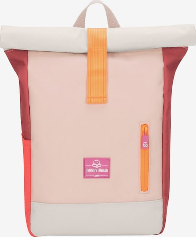 Johnny Urban Backpack 'Aaron' in Light grey / Pink / Red, Item view