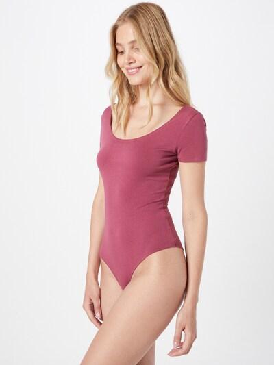 DIESEL Тениска боди в розе / бяло: Изглед отпред