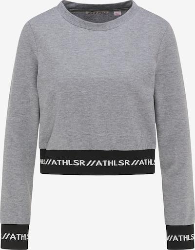 myMo ATHLSR Sportief sweatshirt in de kleur Grijs / Zwart / Wit, Productweergave