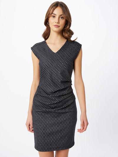 Kaffe Kleid 'Uta India' in schwarz / weiß, Modelansicht