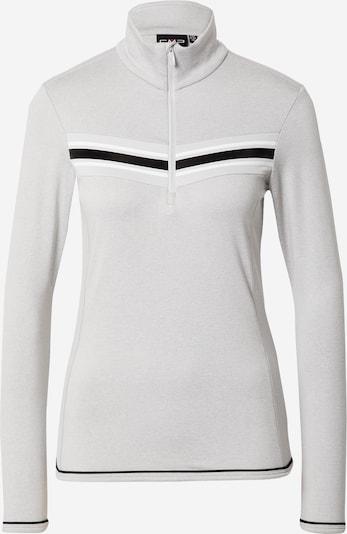 CMP Sportska sweater majica u svijetlosiva / crna / bijela, Pregled proizvoda