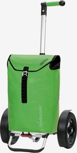 Andersen Shopper Einkaufstrolley 'Tura' in grün / schwarz / weiß, Produktansicht
