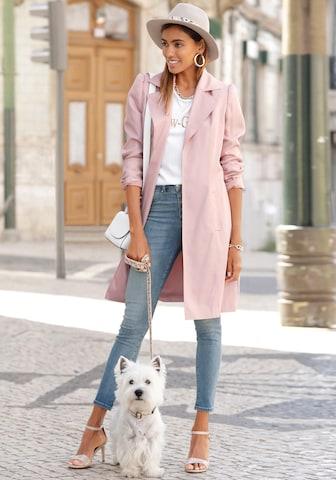 LASCANA Between-seasons coat in Pink