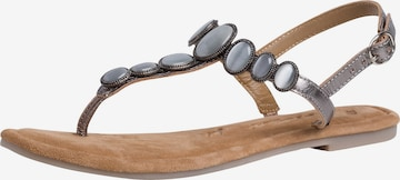 TAMARIS T-Bar Sandals in Grey