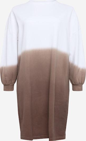 Suknelė iš NU-IN Plus , spalva - ruda / balta: Vaizdas iš priekio