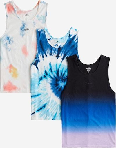 HOLLISTER Тениска в синьо / светлолилаво / черно / бяло: Изглед отпред