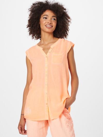 Soccx Bluse in koralle / weiß, Modelansicht