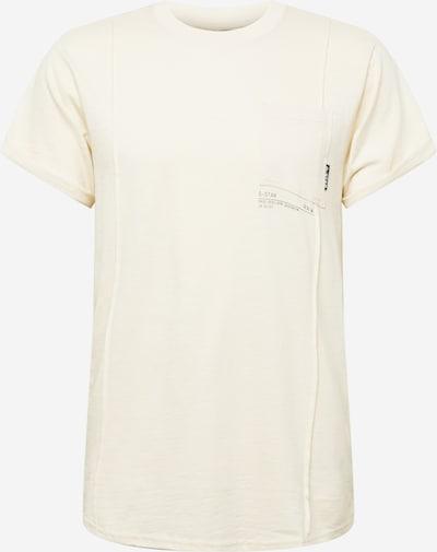 G-Star RAW Shirt in de kleur Ecru / Zwart, Productweergave