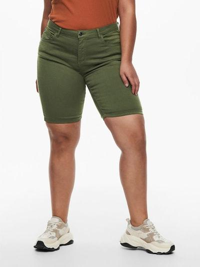 ONLY Carmakoma Pantalon en olive, Vue avec modèle