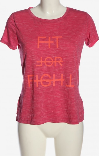 Crane Print-Shirt in S in hellorange / pink, Produktansicht