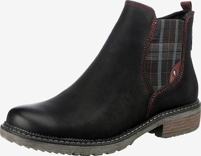 Relife Chelsea Boots in grau / merlot / schwarz, Produktansicht