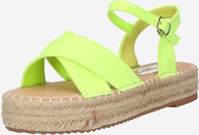 Sandale GLAMOROUS pe verde limetă, Vizualizare produs