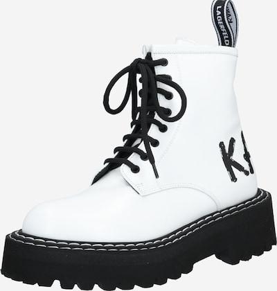 fekete / fehér Karl Lagerfeld Fűzős rövid szárú csizmák 'Patrol II Brush Logo Hi Lace', Termék nézet