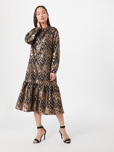 Cecilie Copenhagen Šaty 'Marina' - hnedá / zlatá, Model/-ka