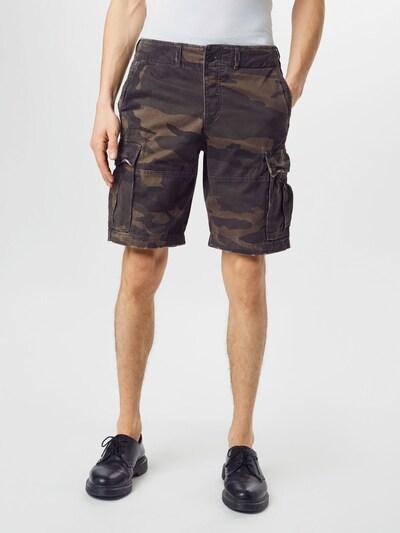 Abercrombie & Fitch Cargo hlače u smeđa / siva / kaki / maslinasta / kraljevski zelena, Prikaz modela