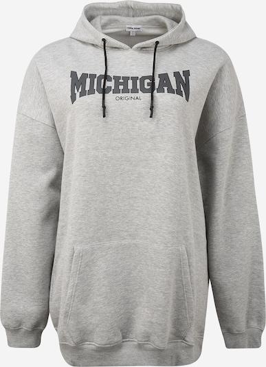 Public Desire Sweat-shirt 'MICHIGAN' en gris clair / gris foncé, Vue avec produit