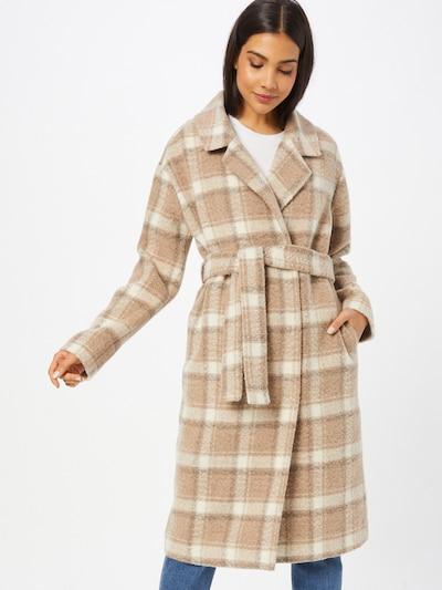 Designers Remix Between-Seasons Coat in Beige / Cream / Dark brown, View model