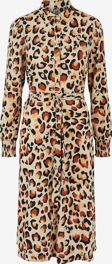 PIECES Kleid 'Falishi' in creme / cognac / hellbraun / schwarz, Produktansicht