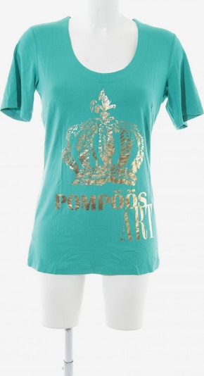 POMPÖÖS Top & Shirt in S in Turquoise / Gold, Item view