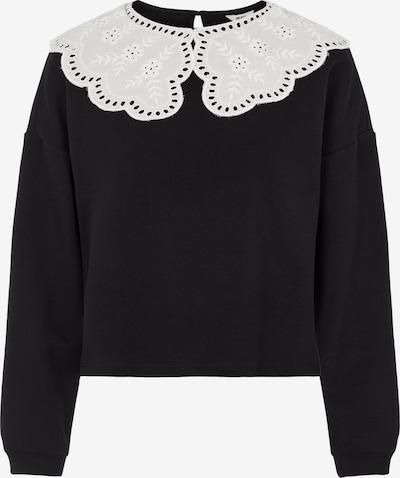 OBJECT Sweatshirt 'Jeniffer' in schwarz / weiß, Produktansicht