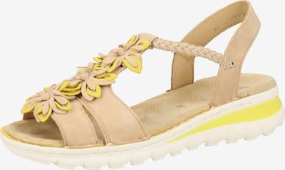 ARA Sandales à lanières en camel / jaune, Vue avec produit