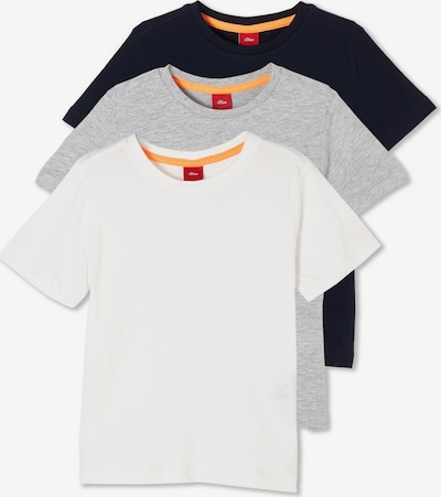 s.Oliver T-Shirts in blau / grau / weiß, Produktansicht