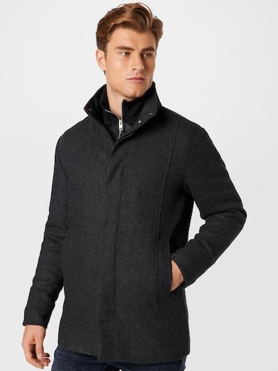 JACK & JONES Overgangsfrakke 'DUNHAM' i mørkegrå, Modelvisning