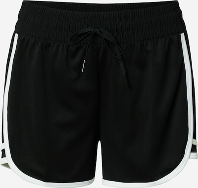 REEBOK Sports trousers in Black / White, Item view