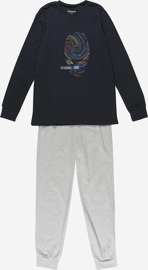 SCHIESSER Pidžama, krāsa - tumši zils / pelēks / jauktu krāsu, Preces skats