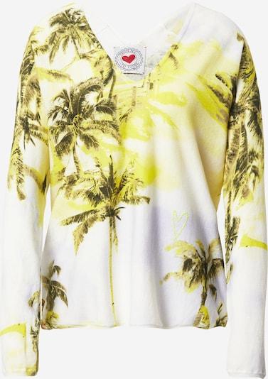 Frogbox Sweatshirt in gelb / schwarz / weiß, Produktansicht