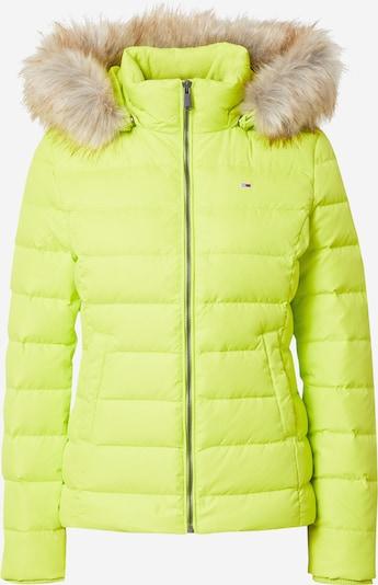 Geacă de iarnă Tommy Jeans pe verde limetă, Vizualizare produs