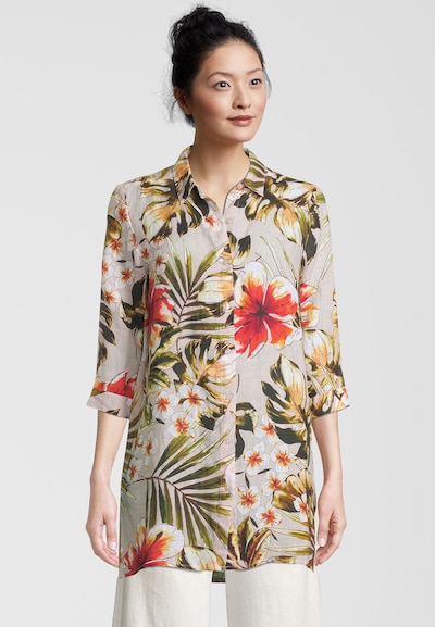 PRINCESS GOES HOLLYWOOD Longbluse 'PALM LEAVES' in mischfarben, Modelansicht