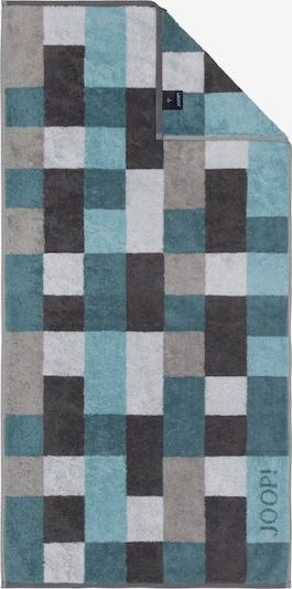 JOOP! Badlaken in de kleur Aqua / Pastelblauw / Grafiet / Lichtgrijs, Productweergave