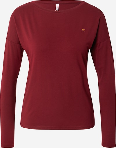Blutsgeschwister Shirt 'Carry me home' in Lime / Wine red, Item view