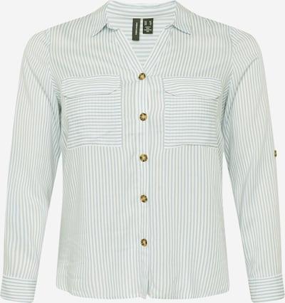 Vero Moda Curve Blusa 'BUMPY' en verde pastel / blanco, Vista del producto