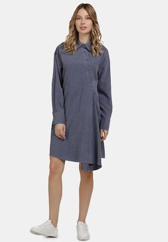 Rochie tip bluză de la usha BLUE LABEL pe albastru