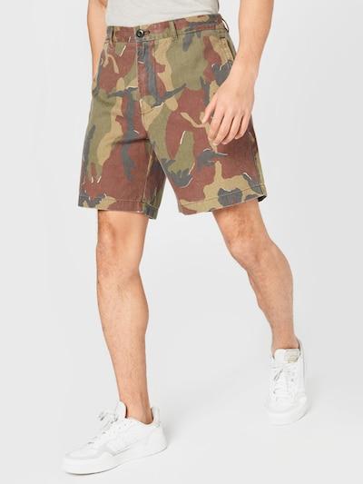 REPLAY Shorts in hellbeige / taubenblau / braun / khaki / weiß, Modelansicht