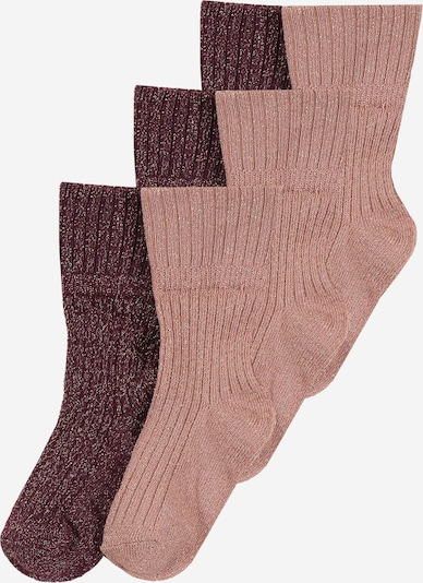 NAME IT Socken 'FROSIN' in pflaume / mauve, Produktansicht