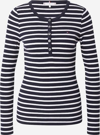 TOMMY HILFIGER Shirt in de kleur Zwart / Wit, Productweergave