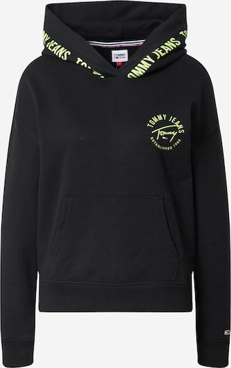 Tommy Jeans Collegepaita värissä neonkeltainen / musta, Tuotenäkymä